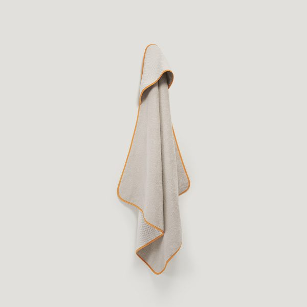 DRIP hooded towel curcuma