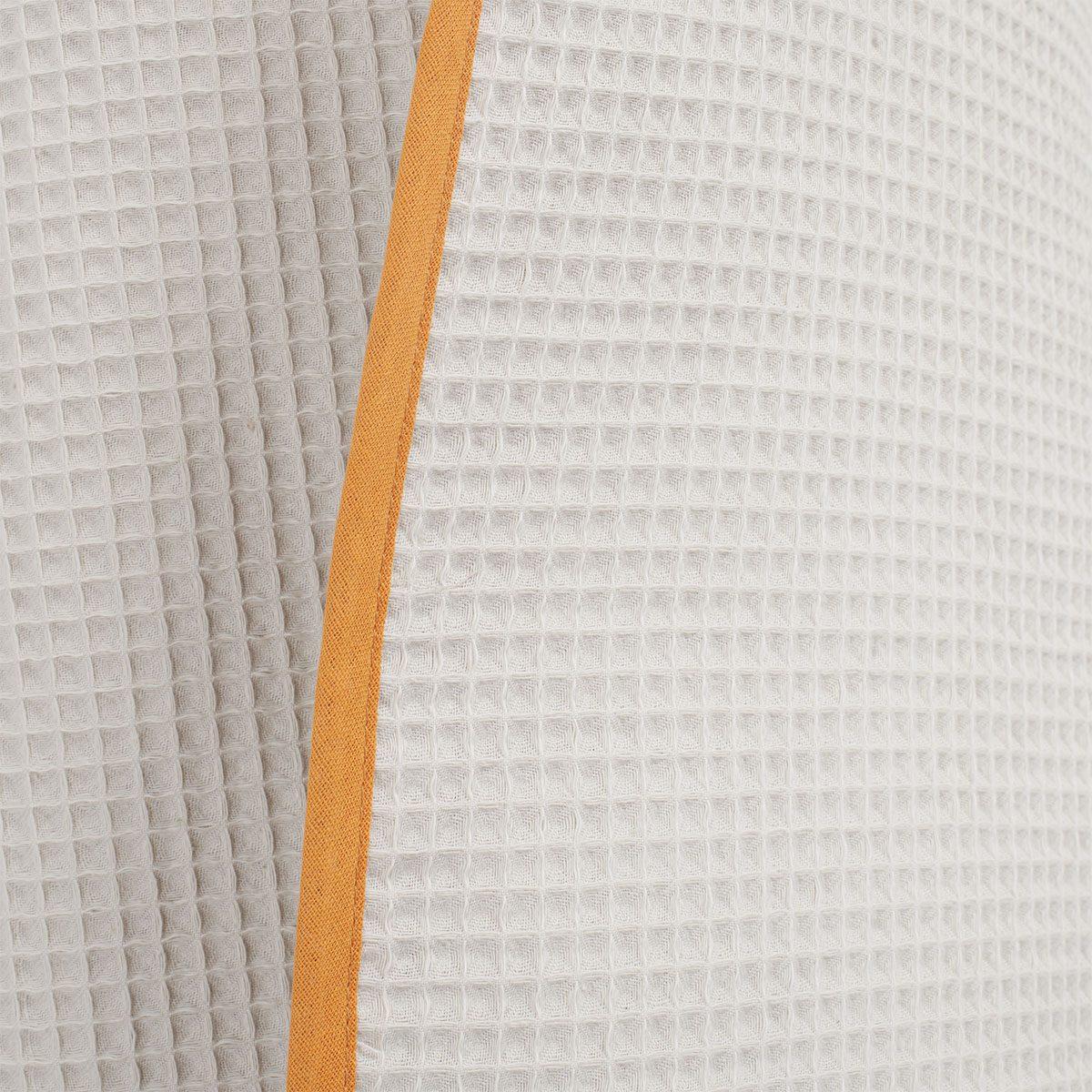 DRIP hooded towel detail waffle wave curcuma