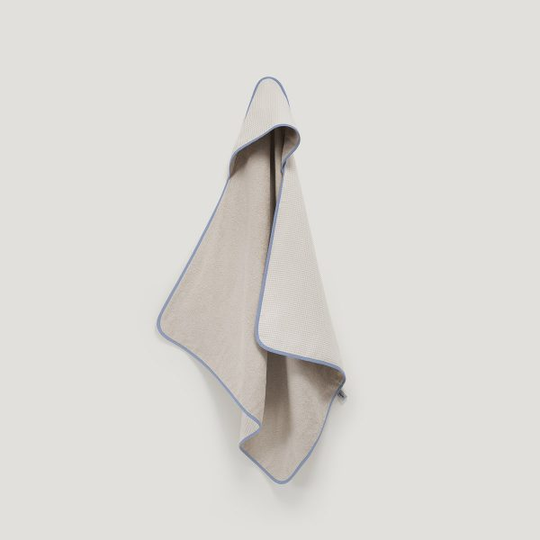 DRIP hooded towel dusty blue