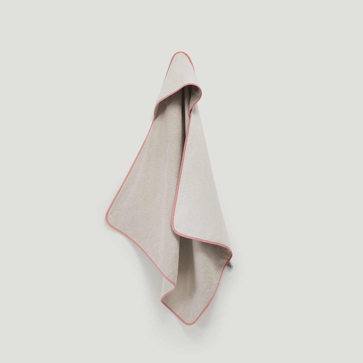 DRIP hooded towel dusty rose