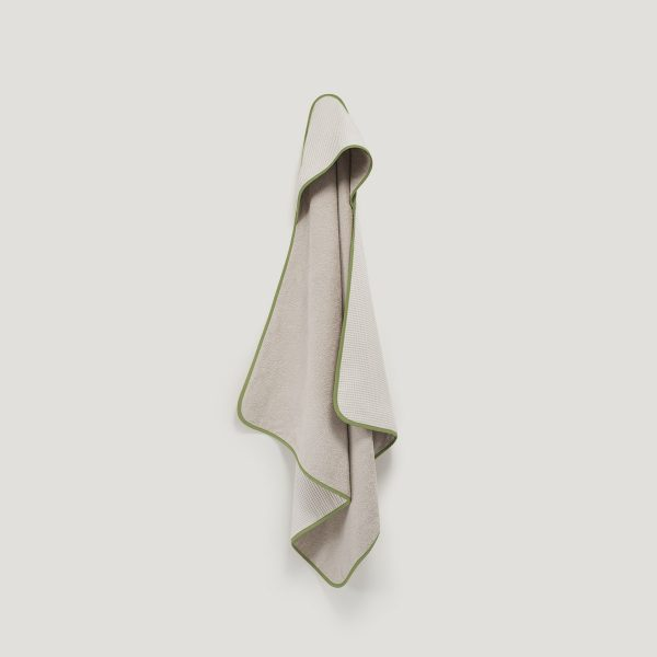 DRIP hooded towel olive