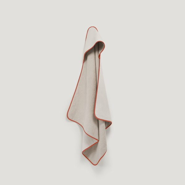 DRIP hooded towel rust