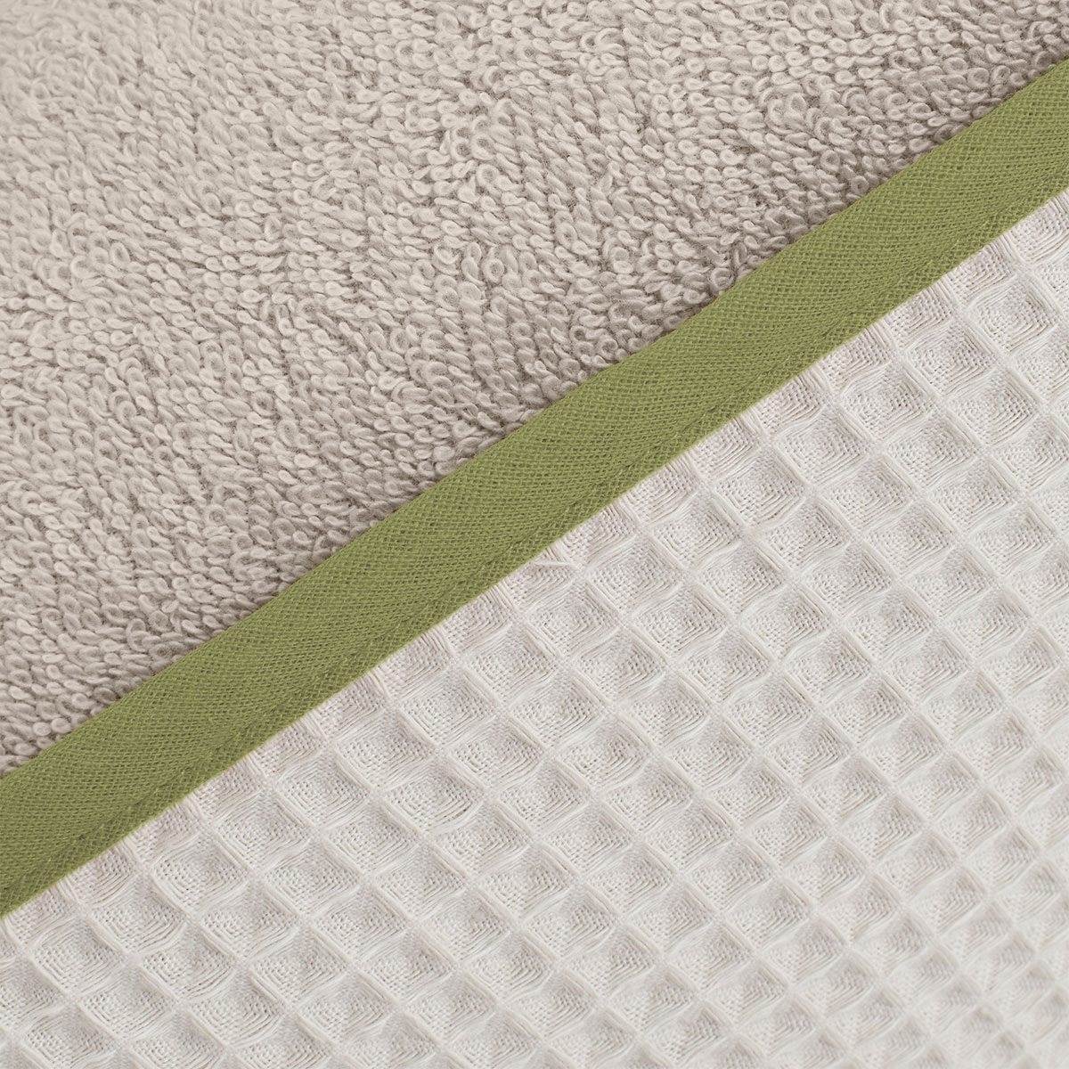 DRIP washcloth set detail olive