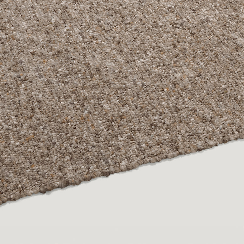 ONN felted wool rug multi brown
