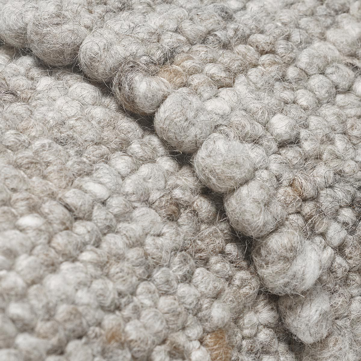 ONN felted wool rug multi grey