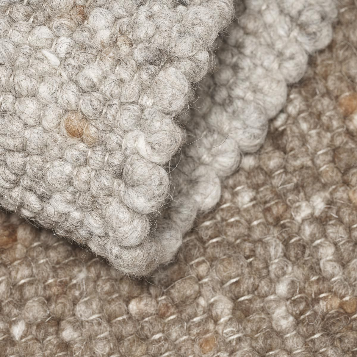 ONN felted wool rug multi grey and multi brown