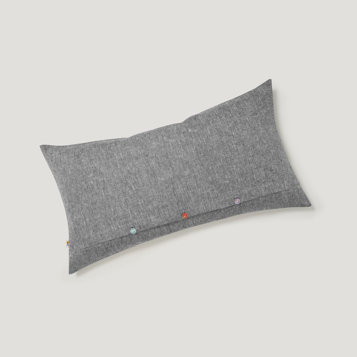INN linen cushion cover black