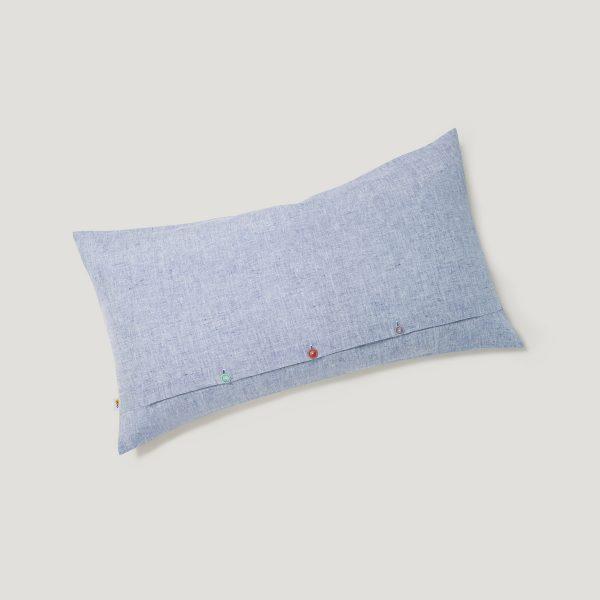 INN linen cushion cover blue