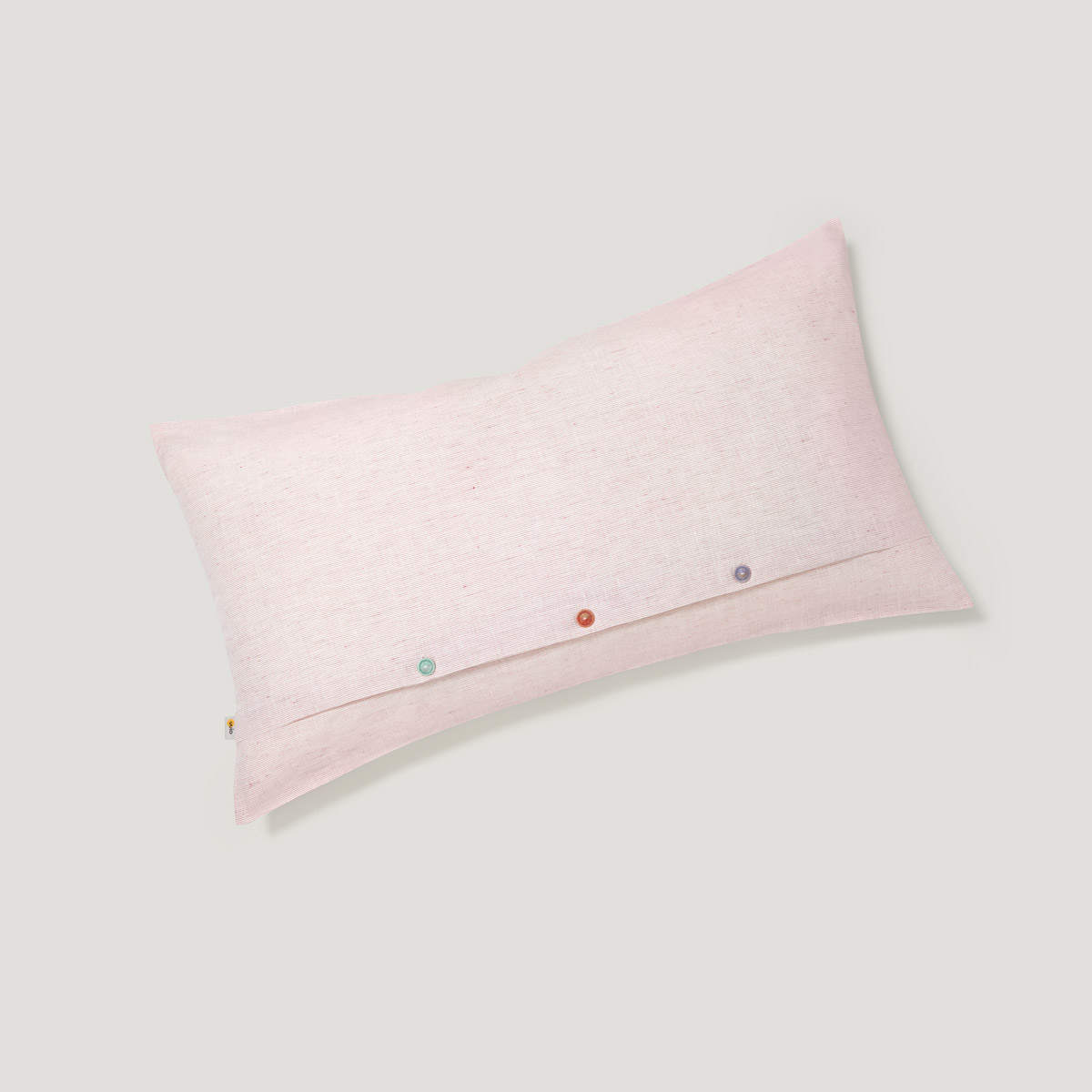 INN linen cushion cover light red