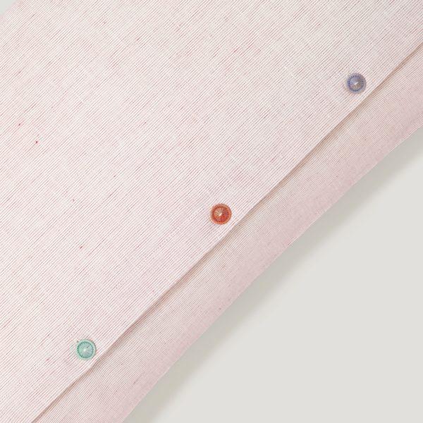 INN linen duvet cover light red
