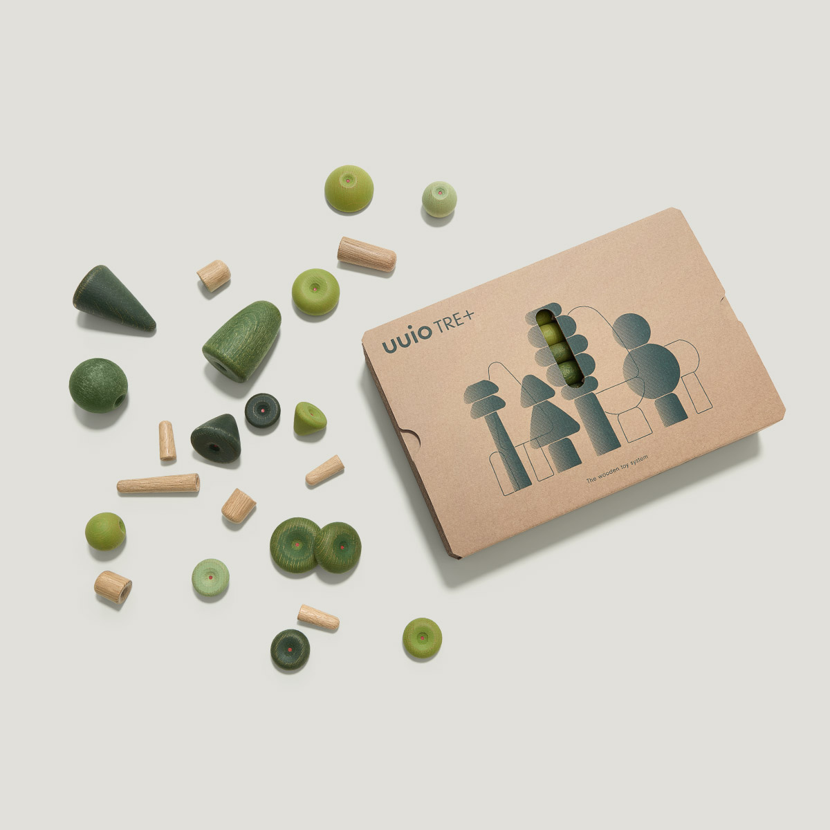 TRE+ wooden toy packaging