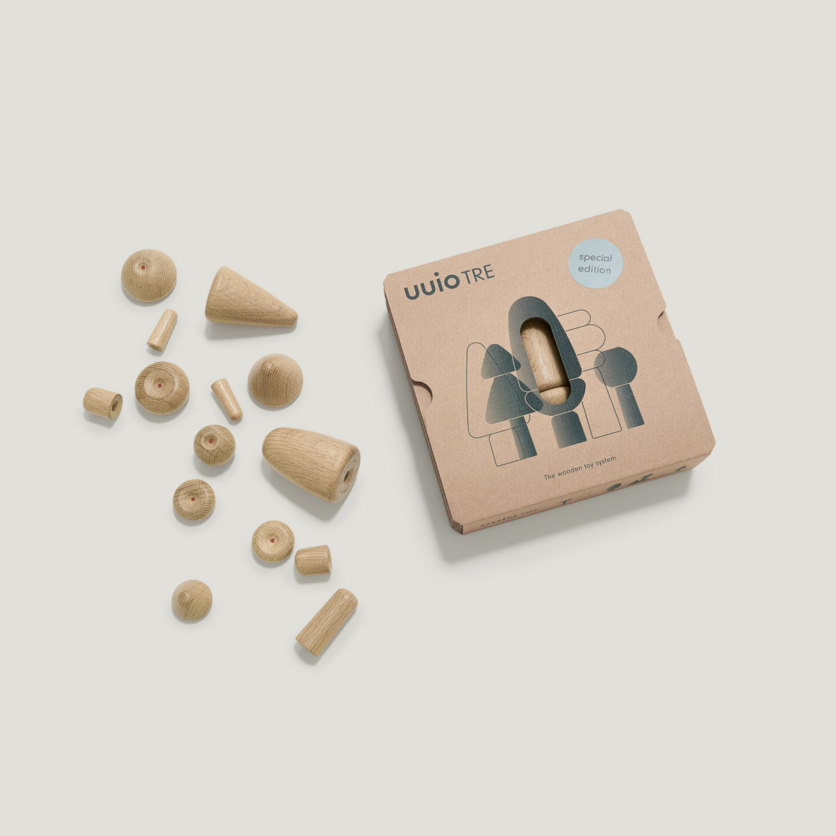 TRE special edition wooden toy packaging