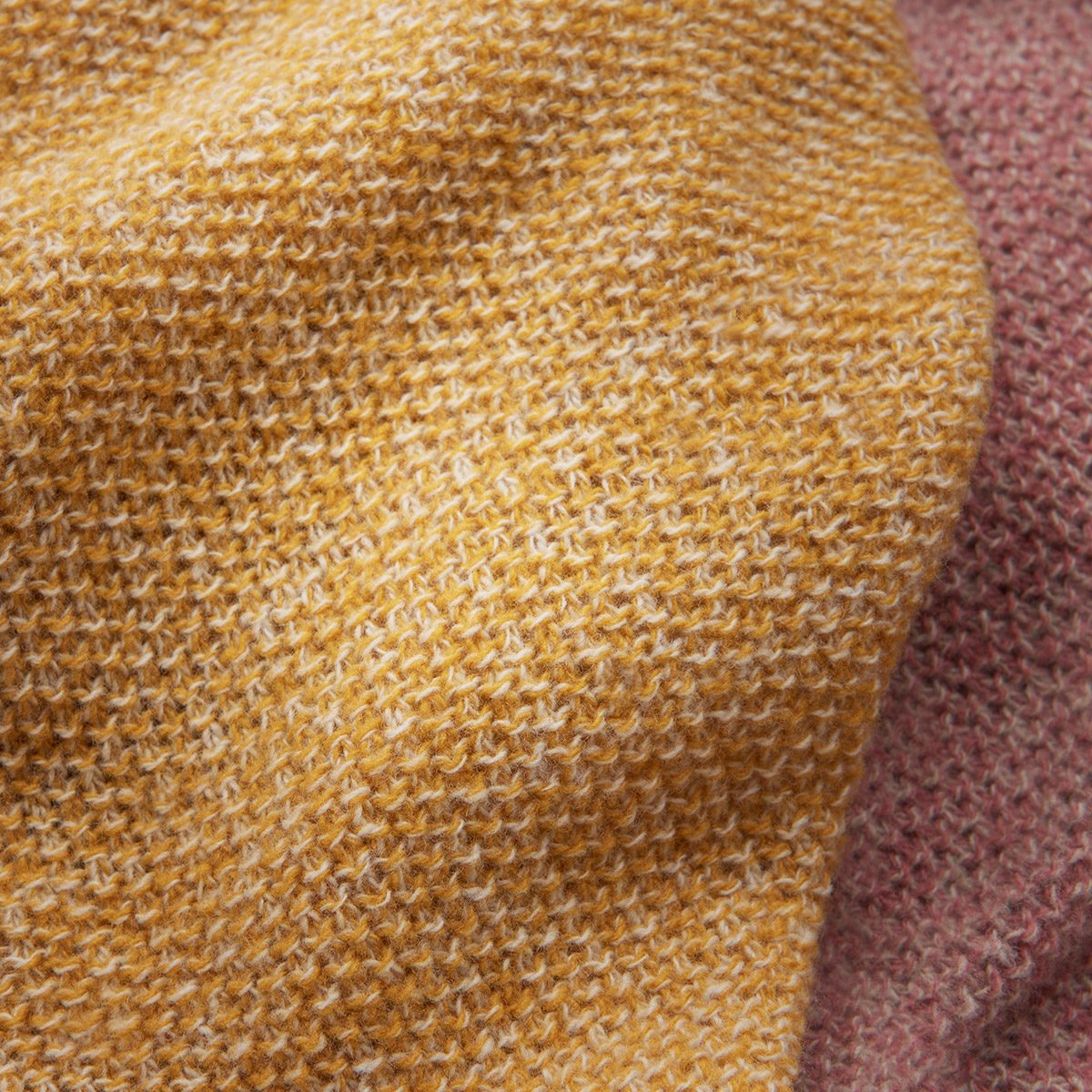 WOL wool blankets in amber and dusty rose