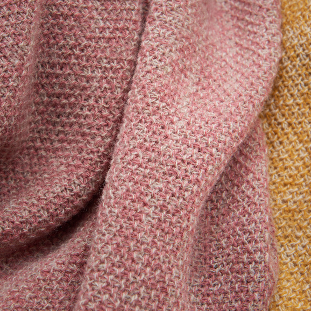 WOL wool blankets in dusty rose and amber